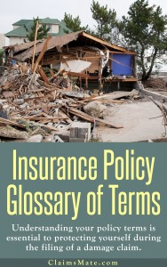 Insurance Policy Glossary of Terms