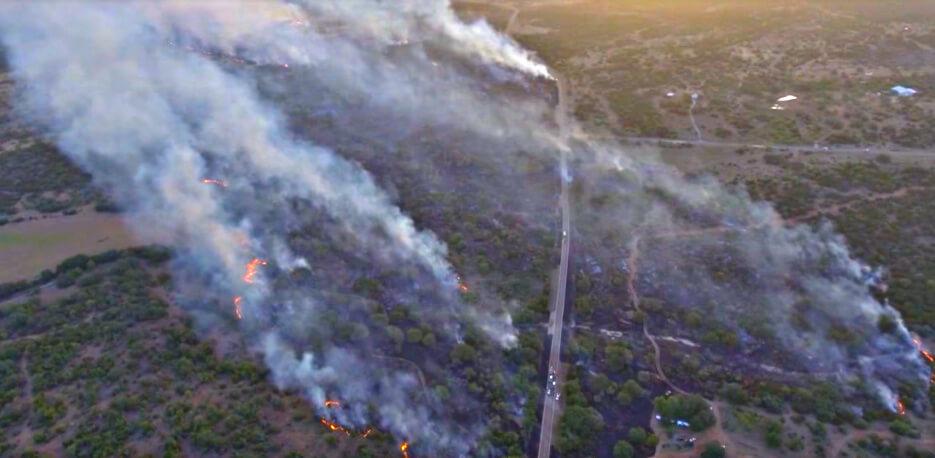 Llano TX Smoke Wildfire